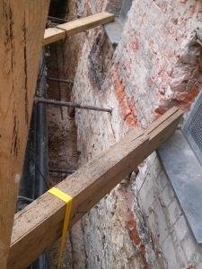 Wand vor der Untergrundvorbereitung